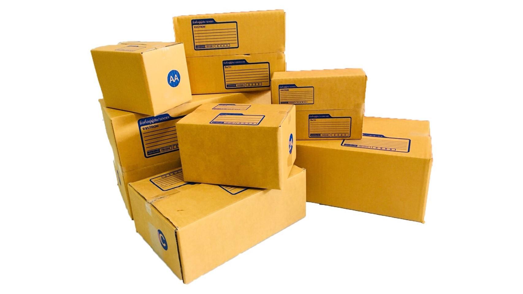กล่องไปรษณีย์ฝาชนสีน้ำตาลเบอร์ 0 ขนาดกว้าง 11 cm ยาว 17 cm สูง 6 cm แพ็ค 10 ใบ